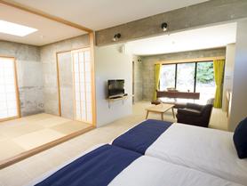 琉球畳の和室。お友達家族やおじいちゃん、おばあちゃんとご一緒に。